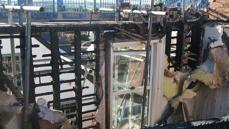 Rooms were gutted by the flames, leaving nothing. Picture: Kingston Building Contractors