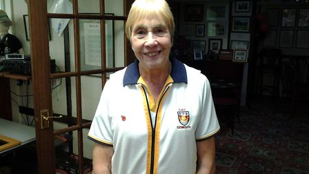 Sidmouth bowler Ann Capon. Picture CONTRIBUTED
