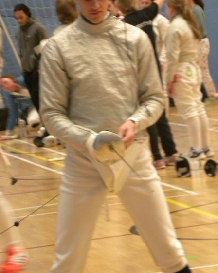 Sidmouth and East Devon Fencing Club member Ollie Manning. Picture CONTRIBUTED