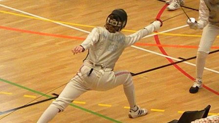 Sidmouth and East Devon Fencing Club member Grace Williams in action. Picture CONTRIBUTED