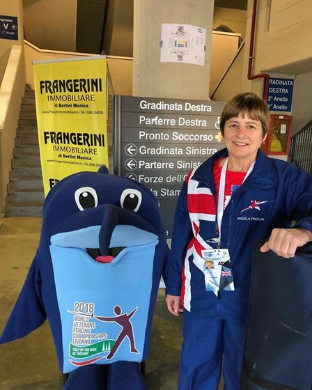 Sidmouth and East Devon Fencing Club member Angela Findlay who was in action inItaly. Picture CONTRI