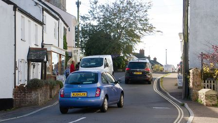 Traffic in Sidbury. Ref shs 43 18TI 3719. Picture: Terry Ife