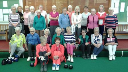 The morning teams who took part in the Lady captain's teams versus the lady vice captain's teams mee