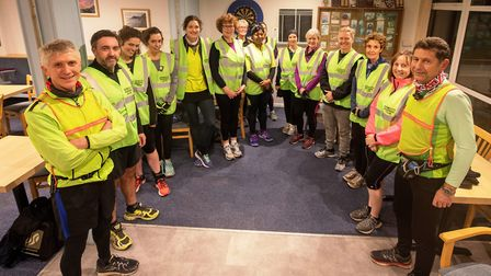 Sidmouth Running Club Improvers group. Picture SRC