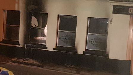 Windows of the King's Arms were smashed. Picture: Rob McGovern