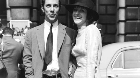 Artist Donald Cammell and his wife, Greek cabaret star Maria Andipa, arriving for the Royal Academy