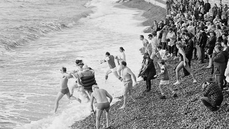 shs Boxing Day Swim 1994. Picture: Sidmouth Herald archives