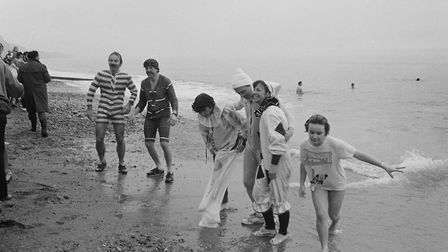 shs Boxing Day Swim 1986. Picture: Sidmouth Herald archives