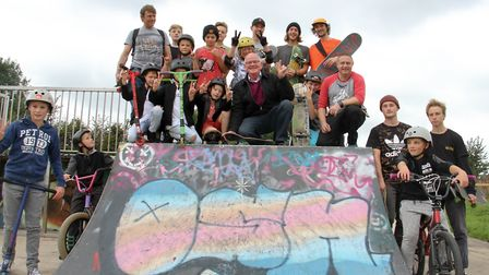 Major Glyn Dobson at the Ottery skate park festical. Ref sho 41-16TI 9323. Picture: Terry Ife