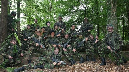 Sidmouth with Budleigh army cadets at a weekend camp at Woodbury Common. Photo by Simon Horn. Ref ex