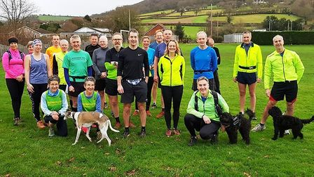The Sidmouth Running Club group that took part in the final Sunday run of 2018. Pitcure SIDMOUTH RUN