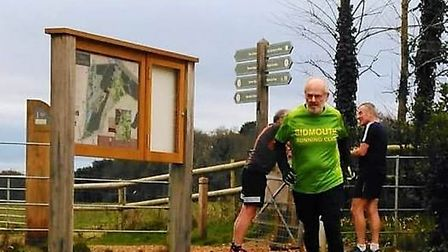 David Skinner during his Park Run at UptonHouse, Poole, where he collected his letter 'u' in his que