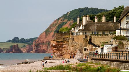 Sidmouth's west beach. Ref shs 27 18TI 7048. Picture: Terry Ife