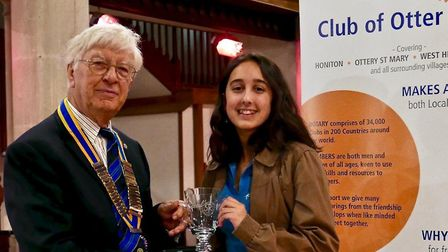 Ava Fitzhugh receives her award following the final of the Youth Presents Music senior section in Ho