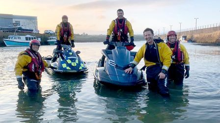 Lifeboat qualification. Picture: Guy Russell