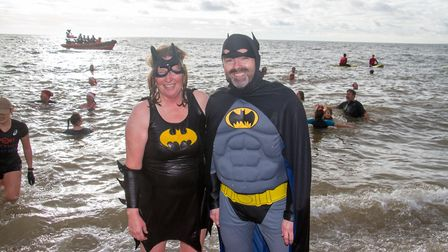 Sidmouth Boxing Day swim. Ref shs 52 18TI 7594. Picture: Terry Ife