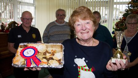 Ann Kay won first prize in the tarts category at the Bake Off competition in Lymebourne and Arcot Co