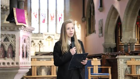 Sidmouth College pupils perform in their annual Christmas concert in the parish church. Picture: Cha