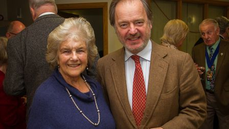 Sheelagh Michelmore and Sir Hugo Swire. Ref shs 02-18TI 6004. Picture: Terry Ife