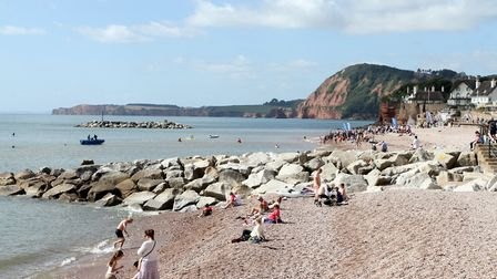 A view of Sidmouth beach looking west. Ref shs 4052-36-14SH. Picture: Simon Horn