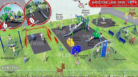 Manstone play park plans. Picture: East Devon District Council