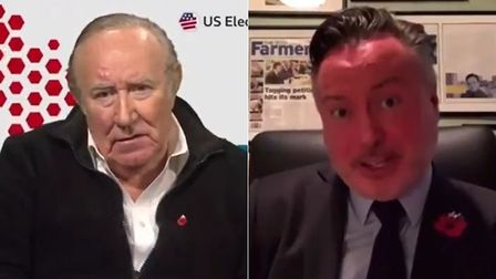 Photo of Andrew Neil (L) and the SNP's Alyn Smith on Politics Live