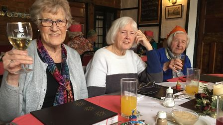Residents enjoyed three courses at the London Inn. Picture: Clarissa Place