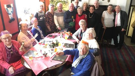 Some 30 residents enjoyed three courses at the London Inn. Picture: Clarissa Place