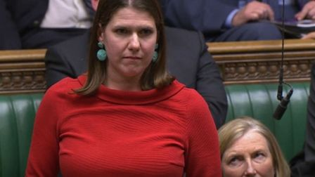 Liberal Democrat leader Jo Swinson during the election debate ahead of the vote in the House of Comm