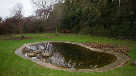 The restored pond at the Knapp. Ref shs 51 18TI 7009. Picture: Terry Ife