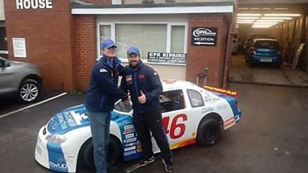 Mark 'Wolfie' Smith is welcomed to the RWUD racing team by owner Chris Harwood, who lives in Exmouth