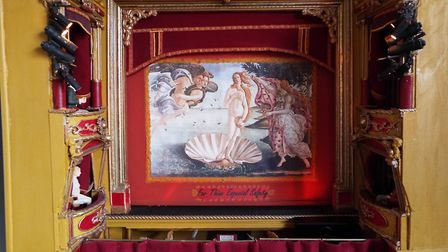 The stage also has a fire safety curtain to give it that authentic feel. Picture: Sam Cooper