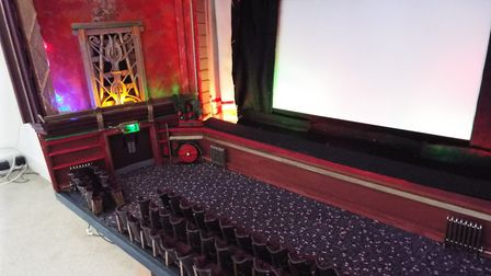 Jon has also built a cinema complete with 52 handmade seats. Picture: Sam Cooper