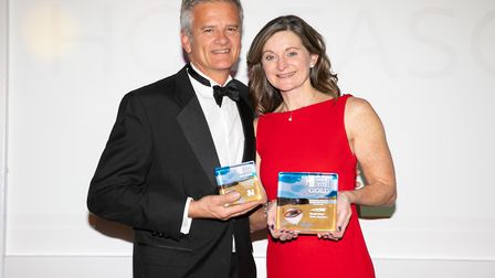 Barry and Helen Follett with their award wins. Picture: Nick Williams Photography