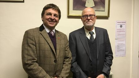 Councillor Paul Carter has been appointed deputy mayor, pictured with mayor Paul Bartlett. Picture: