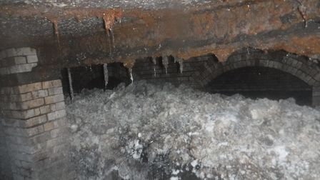 The fatberg under Sidmouth. Picture: South West Water