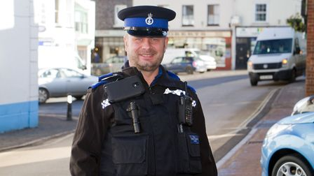 Ottery PCSO Jonathan Sims. Ref sho 10 18TI 8987. Picture: Terry Ife