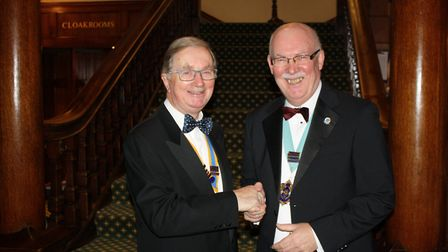 President John Kinch and the District Governor Graham Carey. Picture: Sidmouth Rotary Club