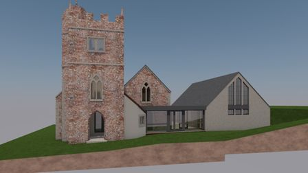 The approved design for the new church hall. Picture: NDM Architects