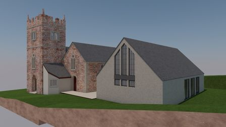 Artist's impression of how the new church hall will look. Picture: NDM Architects