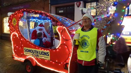 The Lions' Santa sleigh visited good children in the valley and helped raise money for charity. Pict