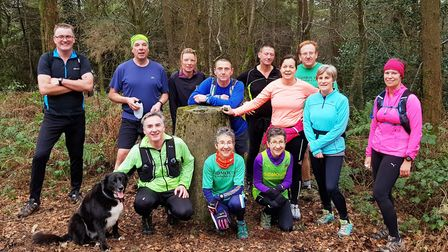 The Sidmouth Running Club sociable Trigs training group. Picture SIDMOUTH RUNNING CLUB