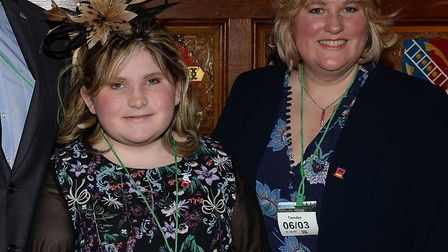 Chalotte Reid and her mum Angela at the Brain Tumour Research reception at The Speaker's House, 2018