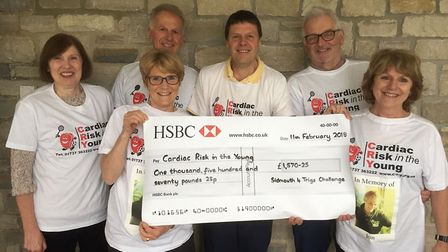Supporters show their delight to have raised £1,570 at this year's Four Trigs Challenge.