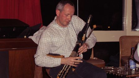 Brian McNamara, Uilleann pipes player. Picture: Mick Megee