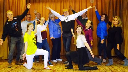 The cast of the Tipton pantomime in rehearsal. Picture: Sian Merritt