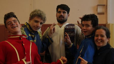 Members of the cast of Froggy Froggy are gearing up for Ottery Community Theatre's annual pantomime.