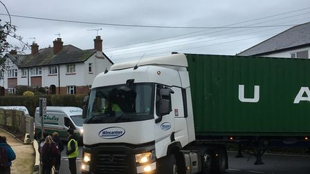 A large lorry became trapped trying to turn on Alexandria Road prompting fresh concerns from parents