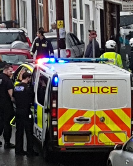 Emergency services at Mill Street, Ottery St Mary. Picture: James Davey