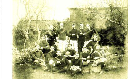 Sidmouth's rugby team in 1994. Picture: Terry O'Brien